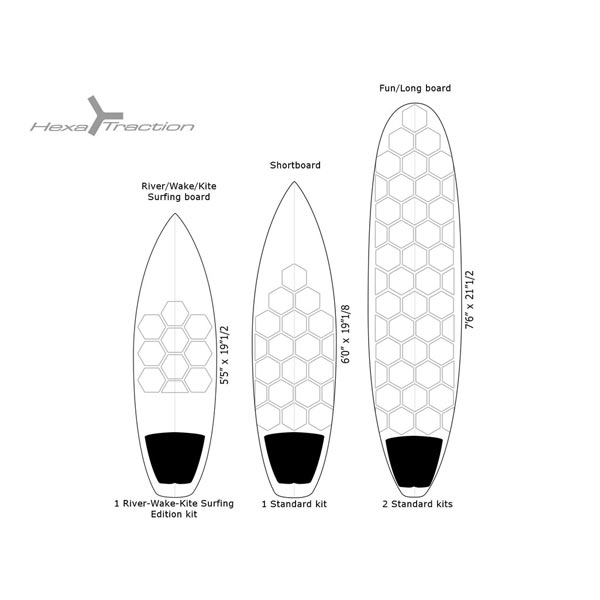 36e1ec9d6d RSPRO SURFBOARD FRONT TRACTION PAD - CLEAR